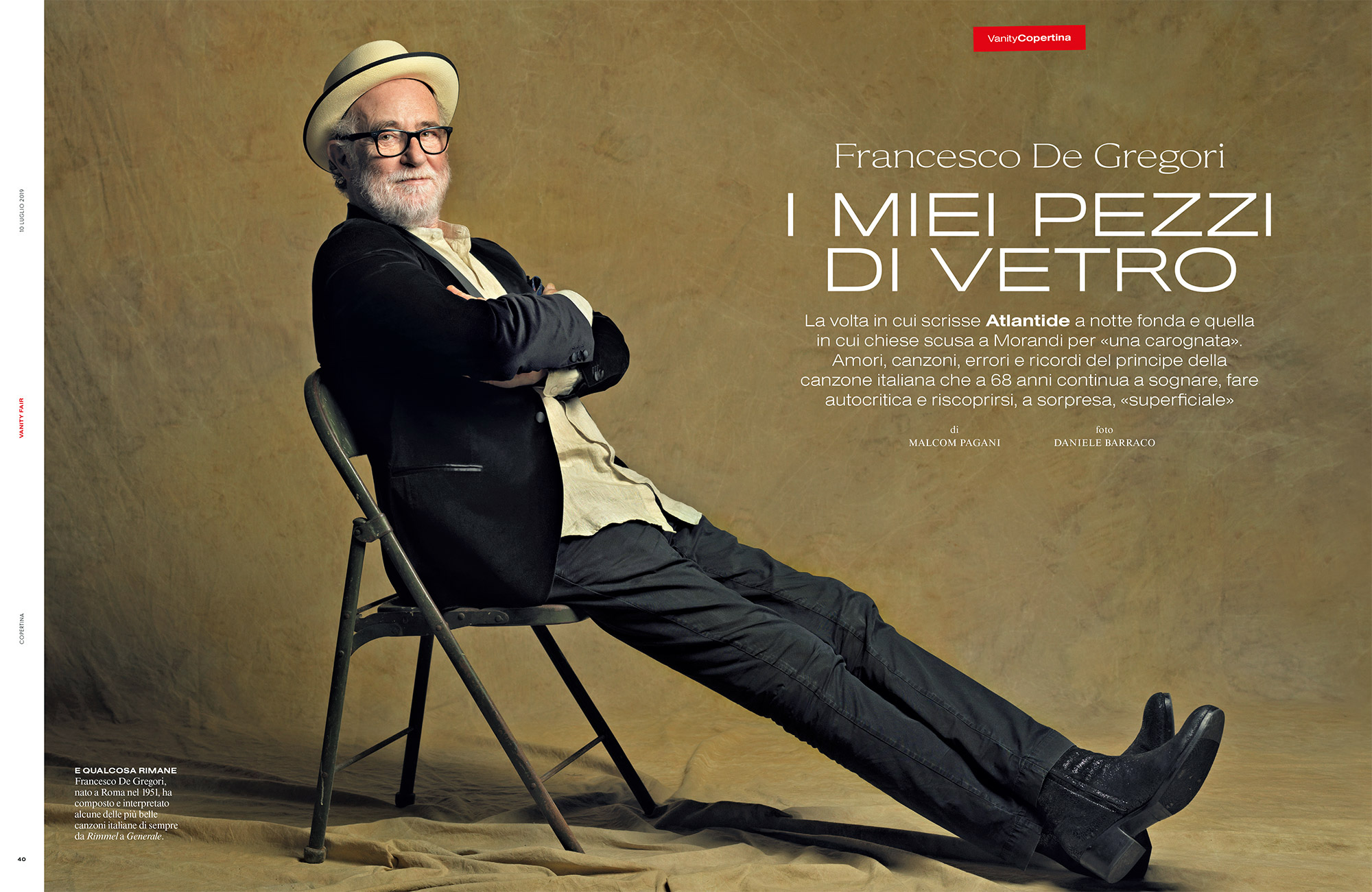 Francesco De Gregori Vanity Fair